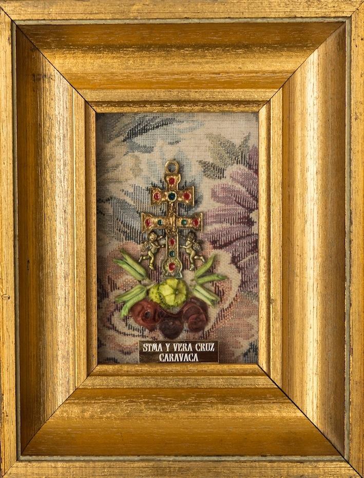 Cuadro cruz de caravaca hecho en marco con dorado antiguo - Cuadros con marcos ...