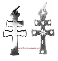 CROSS SMALL HAND CARVED CARAVACA SIZE LONG - CRAFTS