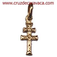 CRUZ DE CARAVACA DE ORO A RELIEVE