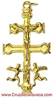 CROSS OF CARAVACA MADE IN GOLD