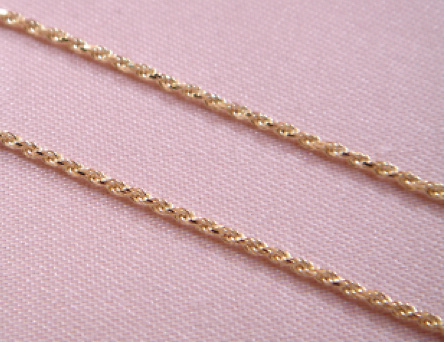 22 GOLD CORD LENGTH 60 CMS. And 1.50 M / M IN DIAMETER