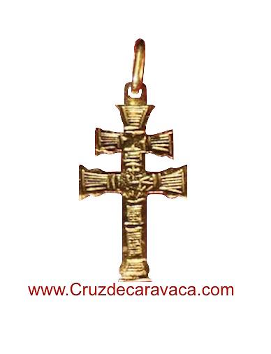 CARAVACA CROCE ORO INTAGLIATA SUPPORTO DUPLEX