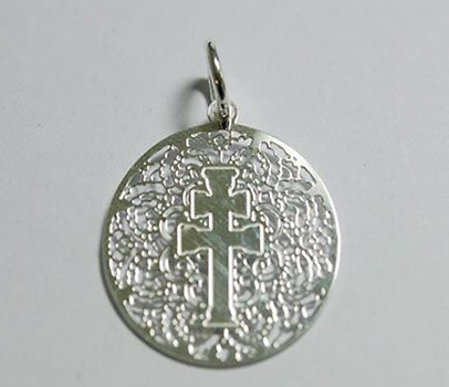 CARAVACA CROSS MEDAL MOUNT MAKE IN SILVER