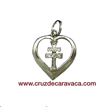 CARAVACA CROSS MEDAL STERLING SILVER HEART