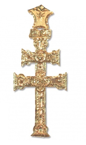 CARAVACA CROSS RELIEF WITH GOLDEN HAND CARVED