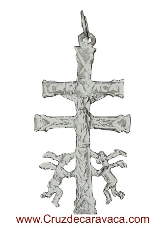 CARAVACA CROSS WITH SILVER ANGELES SN101