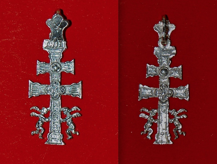 CARAVACA CROSS WITH SILVER ANGELES SN51