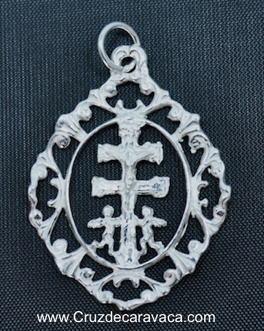 CARAVACA MEDAL CROSS STERLING SILVER FOR HANGING