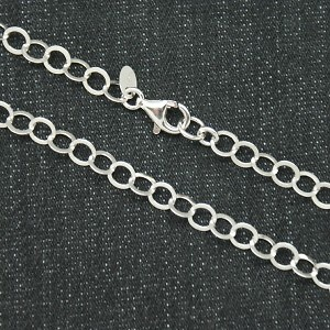 CHAIN STERLING SILVER MODEL 60 CMS CLASIC AND RHODIUM BATH