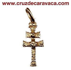 COLGANTE CRUZ DE CARAVACA DE ORO 3396