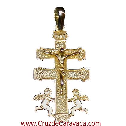 CROCE D'ORO CON GESU ANGELES CARAVACA