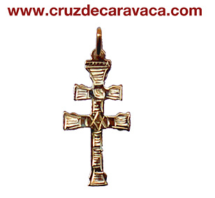 CROSS OF CARAVACA IN GOLD PENDANT 3166