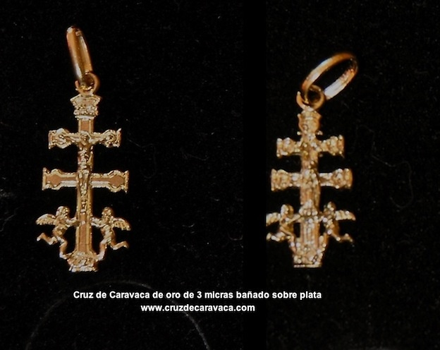 CROSS OF CARAVACA MADE IN GOLD ON SILVER OPCR1
