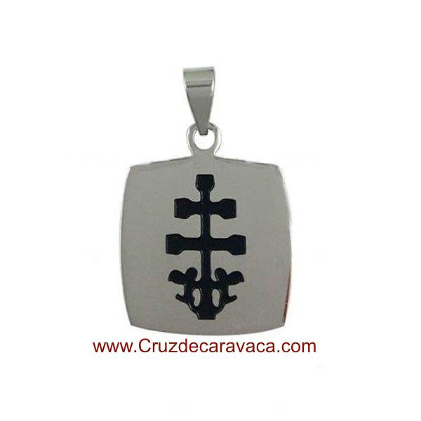 Cross of caravaca of stainless steel and enamel cross of caravaca medal of stainless steel and enamel mozeypictures Choice Image