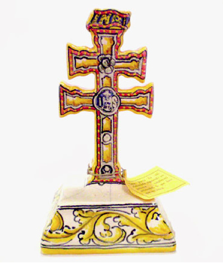 CROSS OF CARAVACA OF CERAMIC