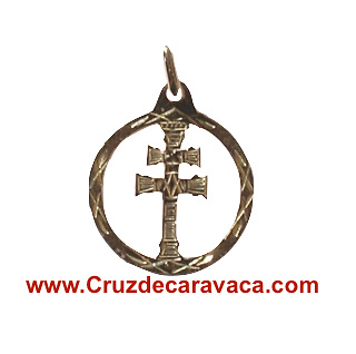 CROSS OF GOLD MEDAL CARAVACA