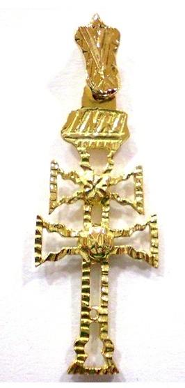 CRUZ CARAVACA DE ORO 1296