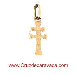 GOLD CARAVACA CROSS 18 KILATES SMALL TO HANG