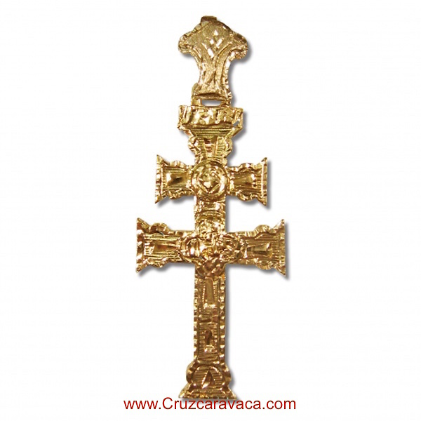 GOLD CROSS OF CARAVACA 18 KLTS BIG