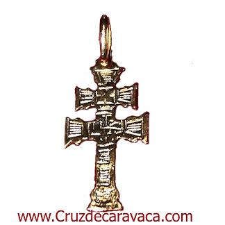 GOLDEN CARAVACA CROCE PENSILE