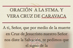 INVOCATION PRAYER CARAVACA A CROSS FOR REQUESTS AND FAVORS