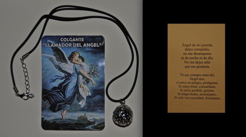 LLAMADOR DE ANGEL CON CORDON DE CAUCHO Y ORACION