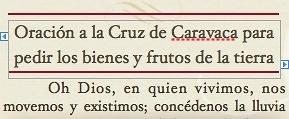 ORACION CRUZ DE CARAVACA PARA LA OBTENCION LLUVIA, BIENES Y FRUTOS DE LA TIERRA