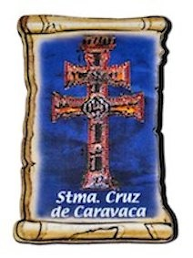 PARCHMENT CROSS OF CARAVACA TO RELIEF WITH MAGNET SMALL