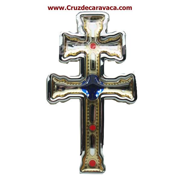 PEGATINA CRUZ DE CARAVACA ADHESIVA PARA EXTERIORES