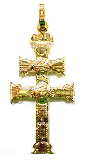 PENDANT CROSS OF CARAVACA MADE IN GOLD 889M
