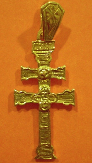PENDANT CROSS OF CARAVACA OF GOLD 1022