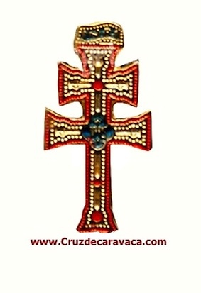 PINS CROSS OF CARAVACA GOLD METAL COLORS