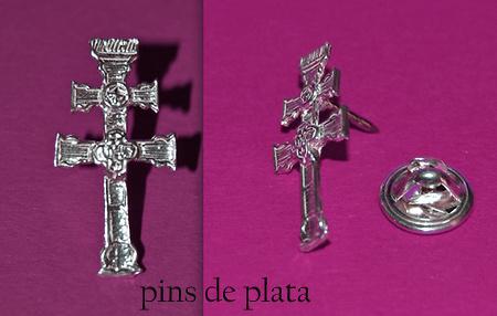 PINS CRSS OF CARAVACA MADE SILVER