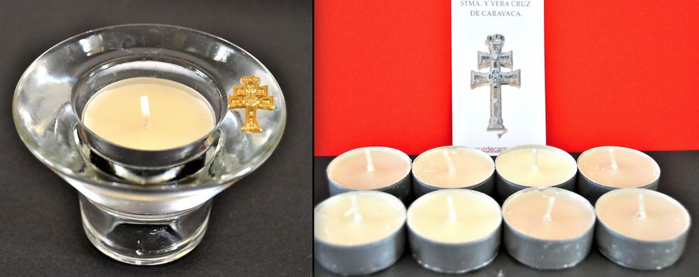 Portavelas cristal y lote de 8 velas - Portavelas cristal ...
