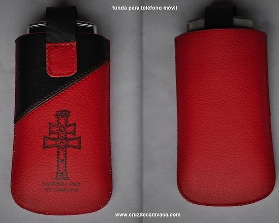 POUCH FOR PHONE WITH THE CROSS OF CARAVACA SMALL