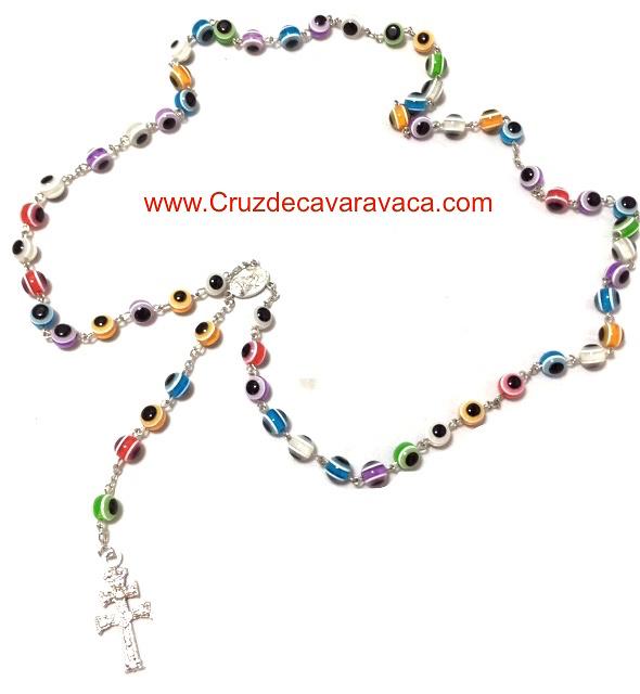 ROSARY CROSS OF CARAVACA ACCOUNTS WITH GLASS EYE TURKISH