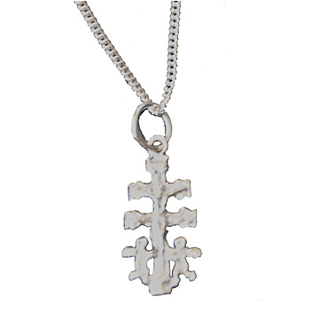SET STERLING SILVER CHAIN ​​AND CROSS CARAVACA