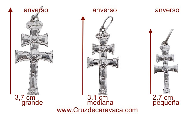 SILVER CARAVACA CROSS WITH DIFFERENT DESIGN ON EVERY SIDE