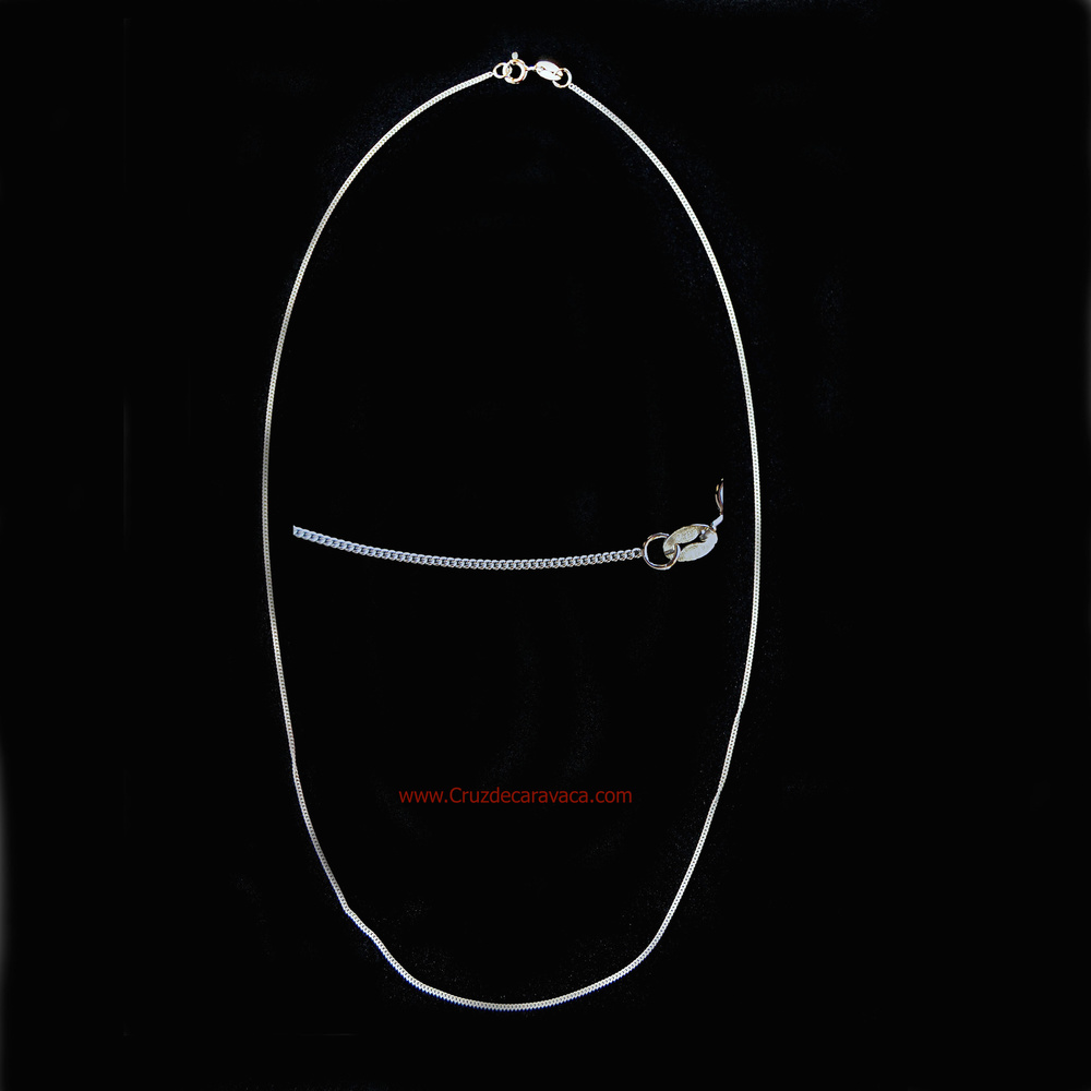 SILVER CHAIN BARBADA MODEL 45 CM