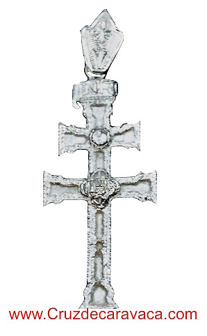 SILVER CROSS CARAVACA BIG TWO-SIDED WITH RELIEF