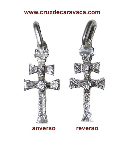 SILVER CROSS OF CARAVACA TWO FACES