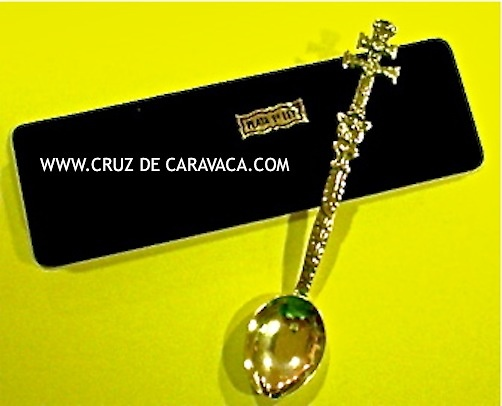 SPOON MADE CARAVACA CROSS IN SILVER