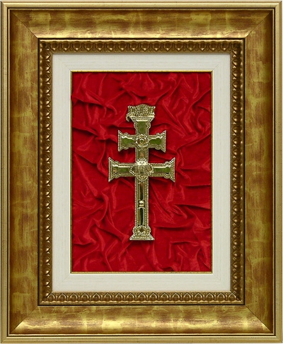 TABLE CARAVACA CROSS OLD GOLD LEAF FRAME