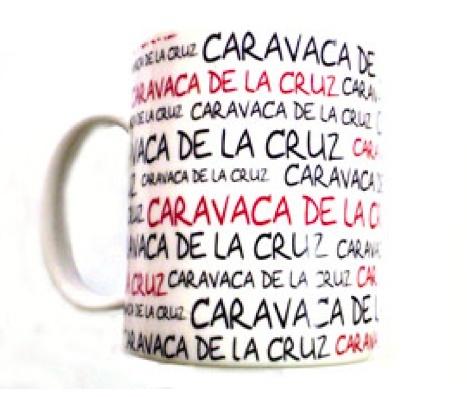 TAZA CARAVACA DE LA CRUZ SERIGRAFIADA