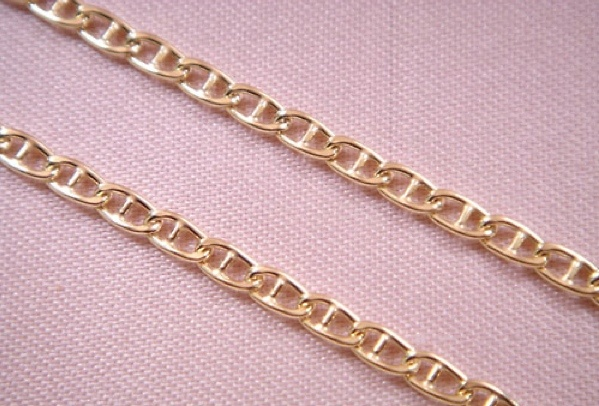catena d'oro, 2-3-50 lunghezza 50 CMS.