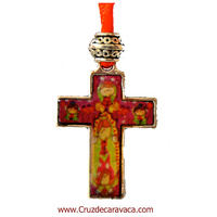 A CROSS WITH VIRGIN LATINA PLIS