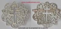 AFILER BROCHE CRUZ DE CARAVACA DE PLATA CALADA F3486
