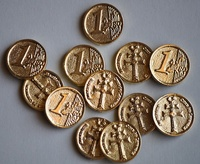 ARRAS COINS AND EUROS CROSS OF CARAVACA (LOT OF 13 COINS)