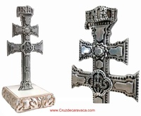 AUTHENTIC CARAVACA CROSS WITH WOOD BASE