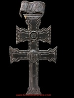 BIG CARAVACA CROSS READY TO HANG WITH METAL BATH